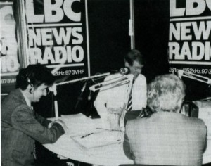 LBC Breakfast Show c1985 - Douglas Cameron, Bob Holness and guest